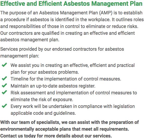 Asbestos Watch Geelong - plan right